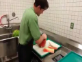 Cutting a Watermelon in 21 Seconds.