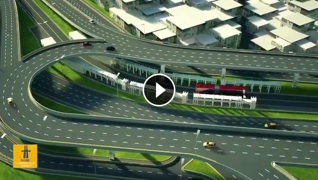Lahore Azadi Chowk Construction 3D Video - Pakistan Videos