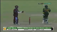 Pakistan Vs West Indies 1st T20 2013 Last Ball Six By Zulfiqar Babar - Winning Moments