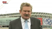 Sky Sports News Reporter Nick Collins Falls Over Live On Air From Wembley
