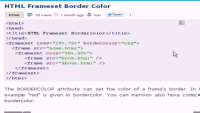 HTML Tutorial - HTML Frameset Border Color
