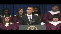 Kid Falls Asleep During Obama Speech