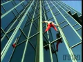 Spiderman Climbs Skyscraper
