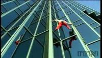 Spiderman Climbs Skyscraper