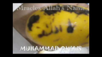 ALLAH Name On Mango