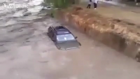Man Risks Life to Save a Drowning Land Cruiser