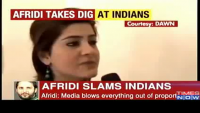 Afridi Replied Indian Media and Cricketers