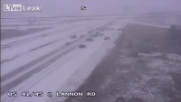 Dangerous Out of Control Driving in Snow
