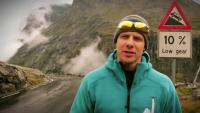 Insane Cyclist Rides Down Steep Mountain Backwards