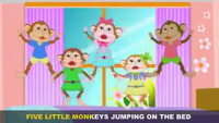 Five Little Monkeys English Poem For Nursery Children