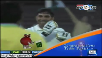 Misbah ul Haq Celebrated by Twirling an Invisible Mustache