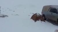 Heavy Snowfall in Desert