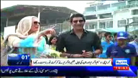 Cricket Legend Wasim Akram with his Wife