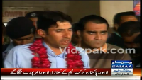 At Lahore Airport Captain Misbah ul Haq Talked With Media
