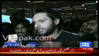 Shahid Afridi at Dacca Airport