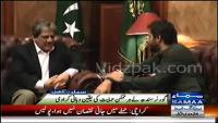 Shahid Afridi Meets Governor Sindh Ishrat ul Ebad