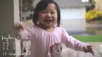 The Reaction of Kid Watching The First Rain