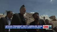 Afghan President Visits Landslide Zone