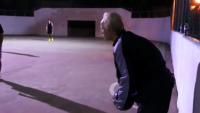 Grandpa vs Young Football Players