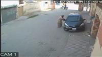 CCTV Video of Car's Side Mirror Being Stolen