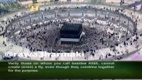 Changing of Ghilaf-e-Kaabah (Kiswah) in Makkah during Hajj 2014