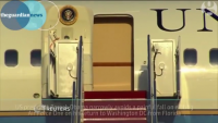 President Obama Slips His Steps of Air Force One