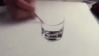 3D Water Glass Sketching