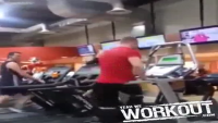 When Michael Jackson Play At Gym