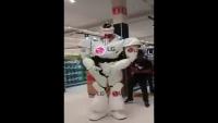 Funny LG Robot Dancing In Brasil