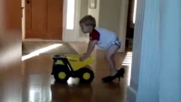 Little Kid In Big Shoes