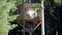 Bike Elevator To Get To Tree House