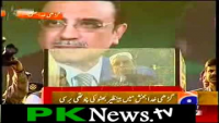 No one clapped ,Zardari clapped by himself during speech. LOL