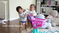 Cute Twin Babies Fighting...