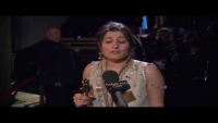 Sharmeen Obaid Chinoy in front of Thank You Cam