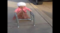 Cute Baby Act Like Grandma
