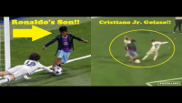 When Cristiano Ronaldo Jr. Plays Football