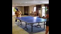 Aleem Dar Playing Table Tennis With Usman Khuwaja