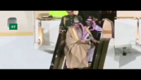 King Salman Gold-Plated Escalator Stuck Amid Operation In Moscow