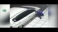 Thief Fails To Steal Car's Side Mirror