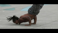 Guy Flips Over 7 People & Stands On His Face - Street Performers