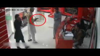 CCTV Footage Of Robbery At Mobile Franchise In Sheikhupura