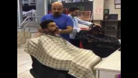Best Tactics To Wake A Sleeping Guy While Having Haircut