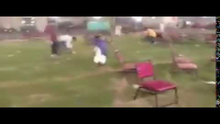 PTI Volunteers Cleaning The Ground After Jalsa