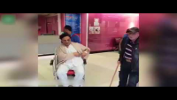 Wheelchair-Bound Naeem Bukhari Filmed In London Hospital