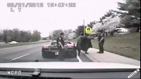 Batman Traffic Police Check a Driver's License
