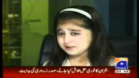 A Crying Girl's Appeal to Zardari