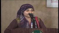 Hubrah Siddiqui addressing President at Youth Summit