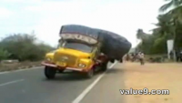 Overloaded Truck Shocks Accident (Oops)
