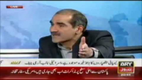 Khawaja Saad Rafique goes mad defending PML-N's corruption