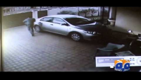 CCTV footage of Car thief
